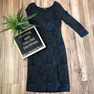 Peruvian Connection Long Sleeve Knit Dress Floral